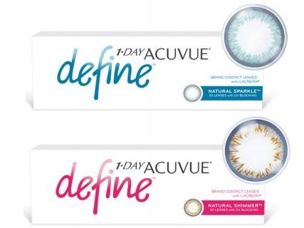 Контактные однодневные бьюти-линзы 1-Day Acuvue Define Natural Sparkle и Natural Shimmer купить в миниоптика.рф