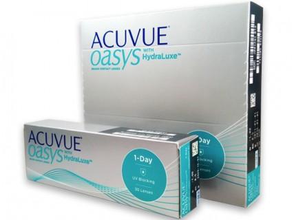 Контактные однодневные линзы 1-Day Acuvue Oasys with Hydraluxe  (30шт / 90шт) в Хабаровске и Владивостоке